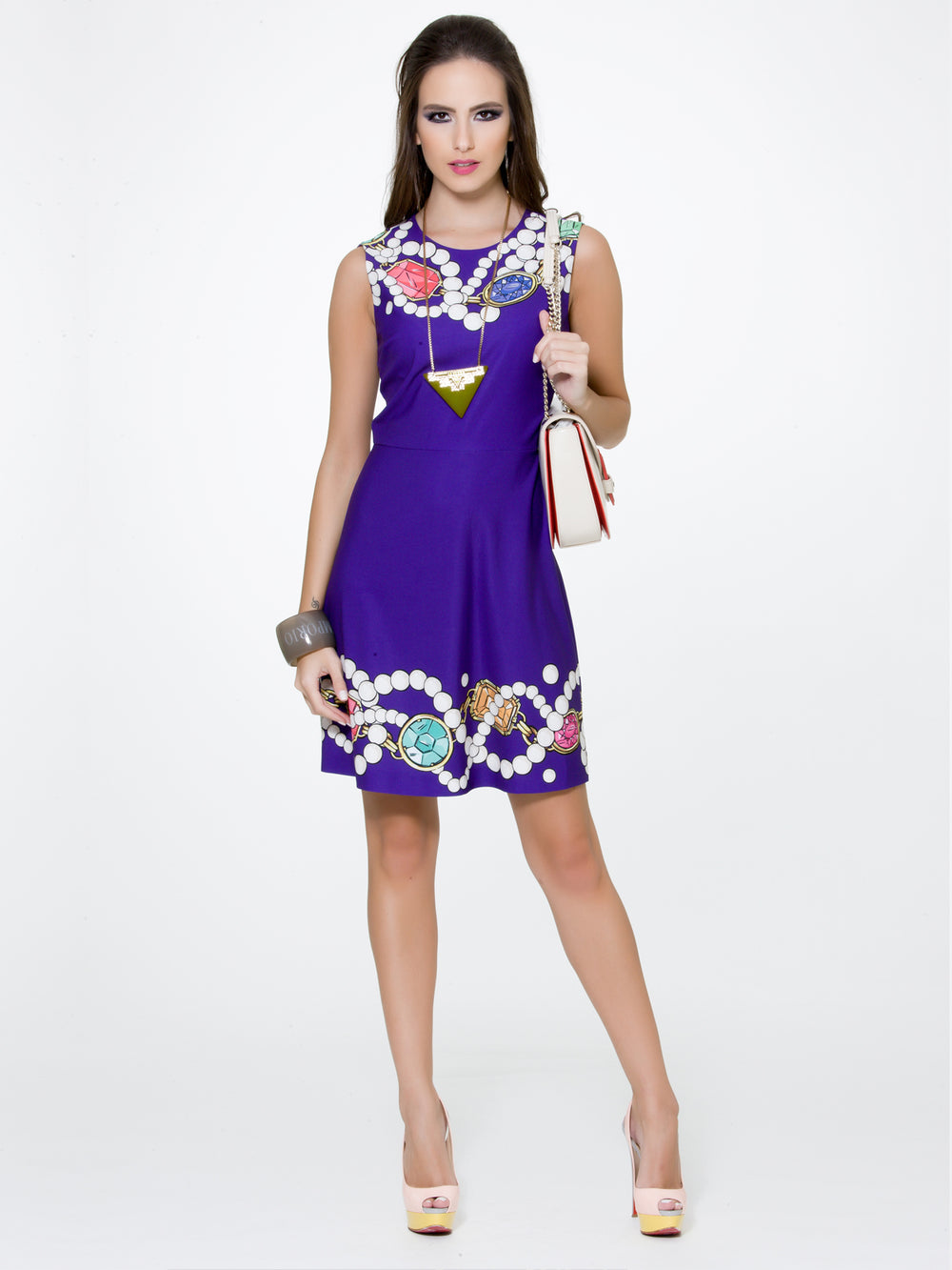 Jewels Print Dress, BOUTIQUE MOSCHINO - elilhaam.com
