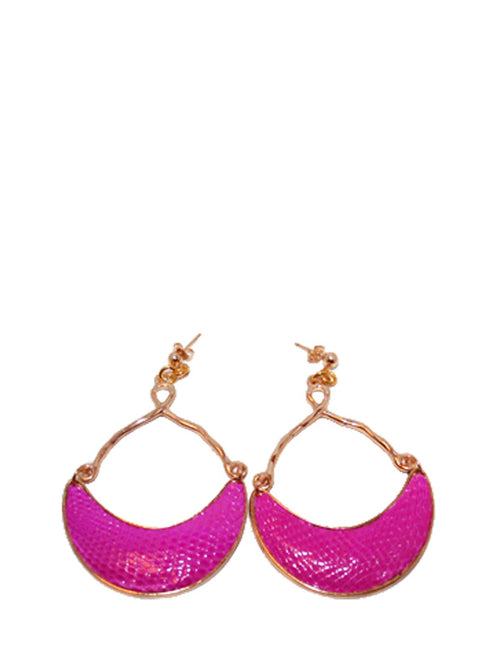 Lizard Half Moon Earringアメジスト、TED ROSSI  -  elilhaam.com