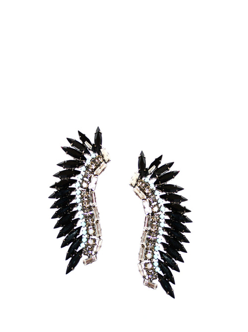 Black Stone Feather Cuff, JOANNA LAURA CONSTANTINE - elilhaam.com
