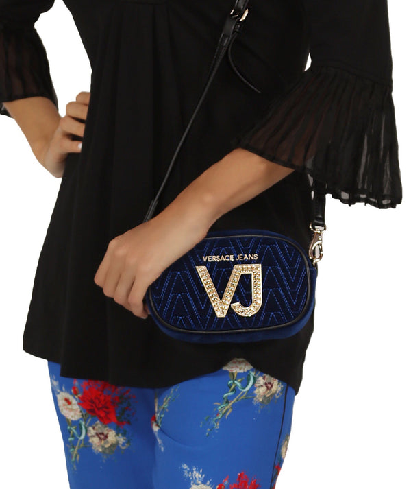 Blue Velvet Mini Cross-body Bag