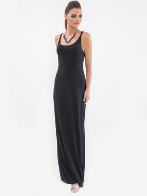 Macrame Back Maxi Dress