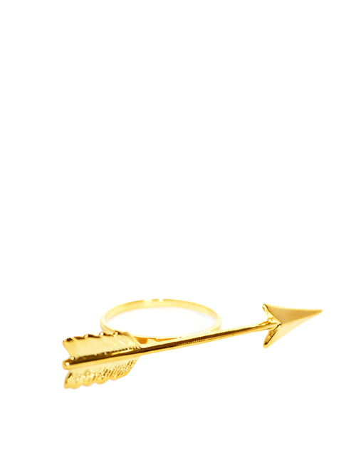 Gold plated arrow ring