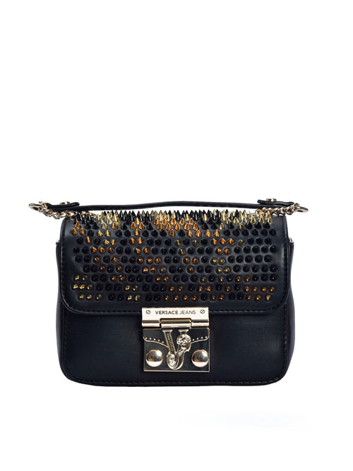 Pyramid Stud Front Flap Cross Body Bag