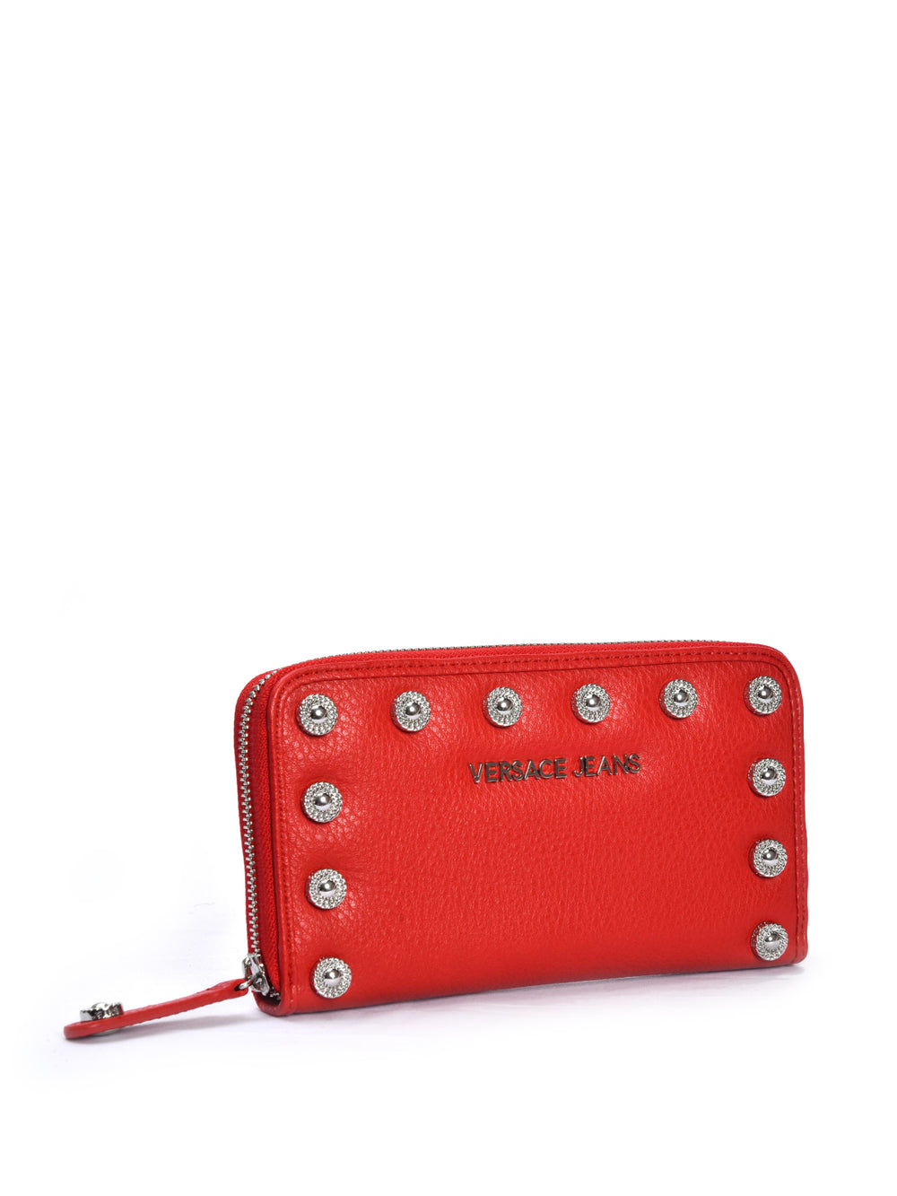 Studded Red Wallet, VERSACE JEANS - elilhaam.com