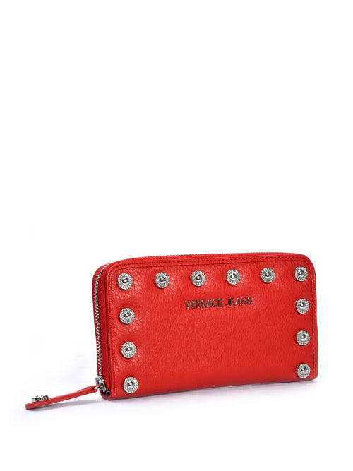 Studded Red Wallet