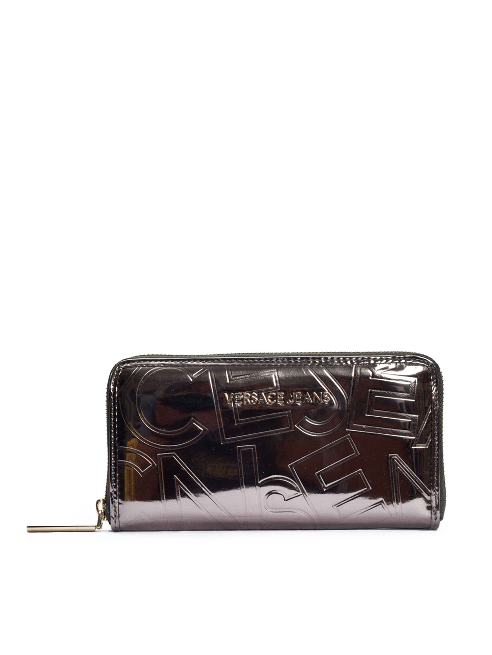 Metallic Zip Around Wallet, VERSACE JEANS - elilhaam.com