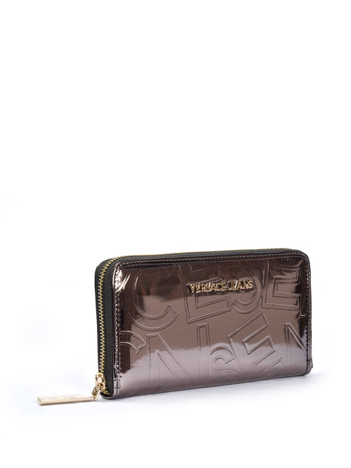 Metallic Zip Around Wallet