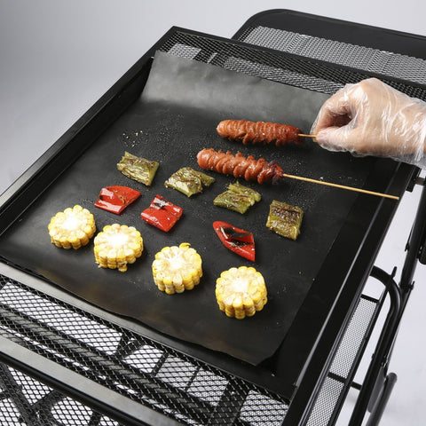 1-3 Count Reusable Non-Stick BBQ Grill Mats - PB and Apple Jelly