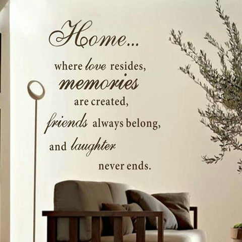 Large Home Quote Wall Sticker - PB and Apple Jelly