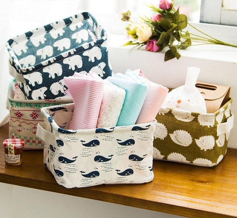 Cute Linen Baskets - PB and Apple Jelly