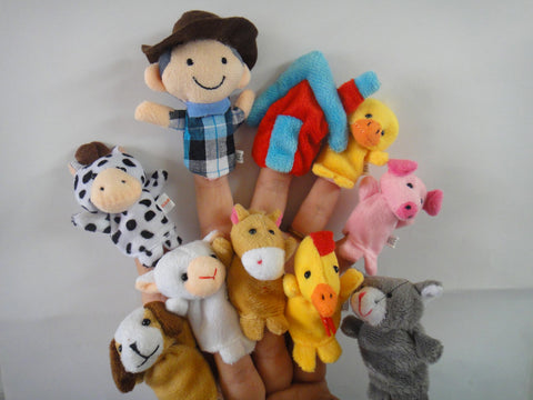 10Pcs Old McDonald Finger Puppets