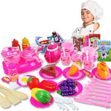 54Pcs Plastic Food and Kitchen Set - PB and Apple Jelly