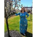 Lovely Almond Blossom Dress with Belt (Up to US size 24) - PB and Apple Jelly