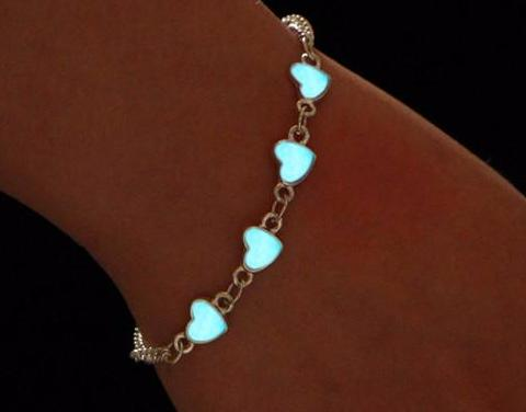 Glow in the Dark Heart Bracelet - PB and Apple Jelly