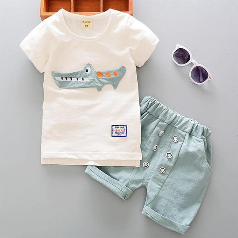 Crocodile Summer Outfit (US Sizes 18 Months-5T) - PB and Apple Jelly