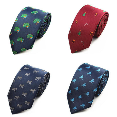Printed Silk Neck Ties - PB and Apple Jelly