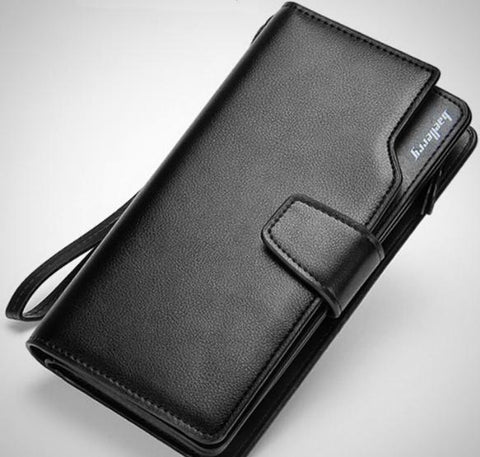 Long-Design PU Leather Clasp and Zipper Wallet (2 Styles)