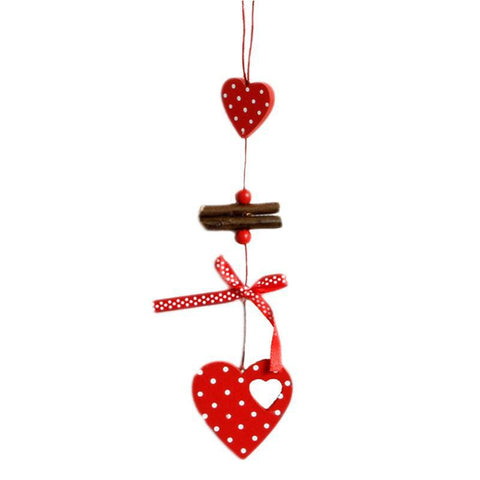 1pc Red with Polka Dots Wooden Ornaments - PB and Apple Jelly