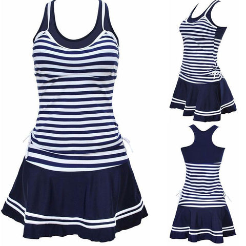 Sporty Striped Skirted Tankinis (US Sizes 0-14) - PB and Apple Jelly