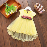 Elegant Flower and Tulle Dress (US Sizes 12M-3T) - PB and Apple Jelly