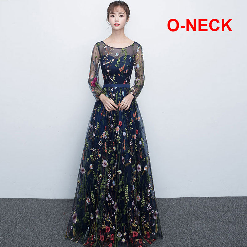 Floral Embroidered A Line Evening Gowns Us Sizes 2 16 Pb And
