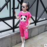 Cute Panda Outfit (US Sizes 3T-10) - PB and Apple Jelly