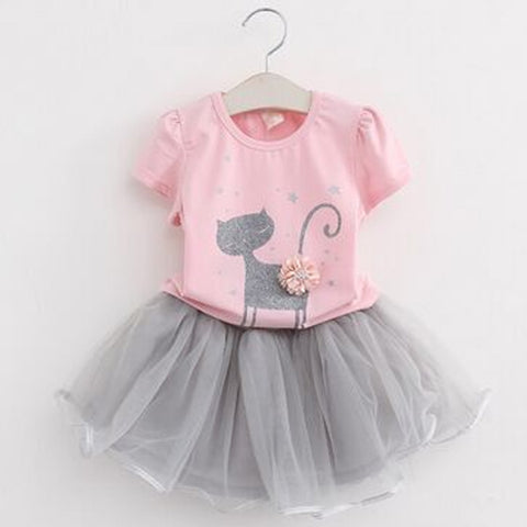 Kitten Shirt and Tutu Skirt (sizes 2T-6)