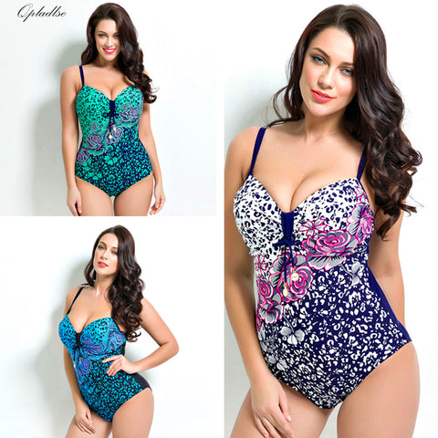 Bold Leopard Print Floral One-Piece Swim Suits (US Sizes 12-20) - PB and Apple Jelly