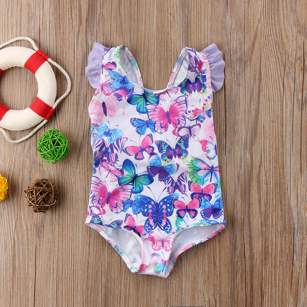 Colorful Butterfly Baby Toddler Girl Swim Suit Us Sizes 6 Months 5t