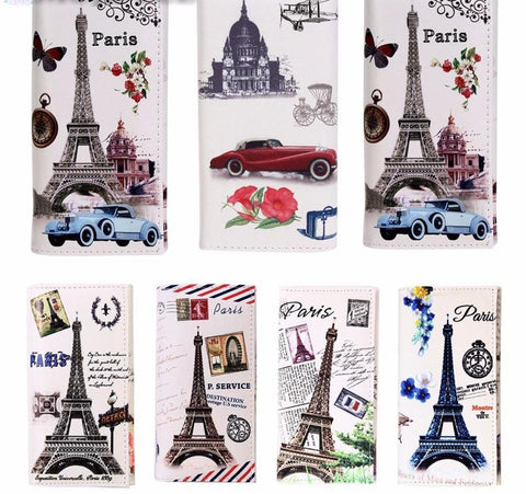 Beautiful PU Leather Paris Eiffel Tower Wallets