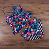 Floral and Striped Tankinis with Reversible Bottoms (US Sizes 4-12) - PB and Apple Jelly