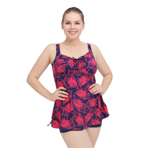 Floral Tankini with Shorts (US Sizes 12-22) - PB and Apple Jelly