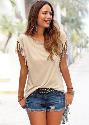 Trendy Tassel-Sleeved Tops (US Sizes XS-4XL) - PB and Apple Jelly