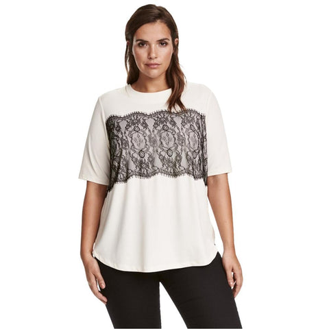 Lace-Detail Blouse (US Sizes 14-22) - PB and Apple Jelly