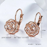 Elegant Rose Dangle Earrings - PB and Apple Jelly