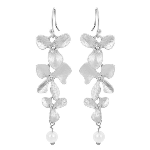Delicate Orchid Dangle Earrings - PB and Apple Jelly