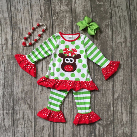 Reindeer Outfit and Accessories (Sizes 2T-8) - PB and Apple Jelly