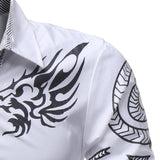 Fierce Dragon Button-Down Shirt (Reg. and Plus Sizes) - PB and Apple Jelly