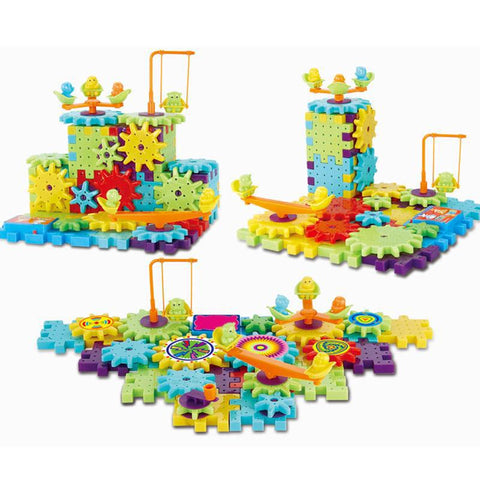 81Pcs. Electric Gears 3D Puzzle Building Kit - PB and Apple Jelly