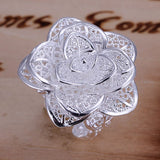 Large Flower Silver Ring - PB and Apple Jelly