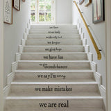 """In This House"" Stair Stickers - PB and Apple Jelly"