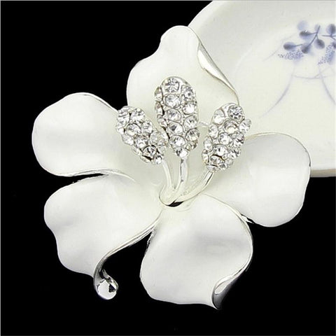 Gorgeous Rhinestone Lily Brooches - PB and Apple Jelly