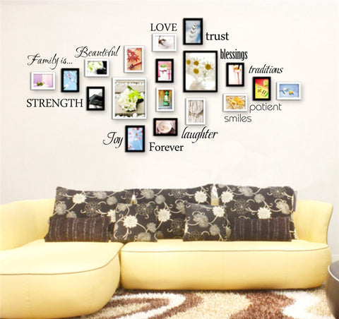 What Family Is Word Wall Stickers - PB and Apple Jelly