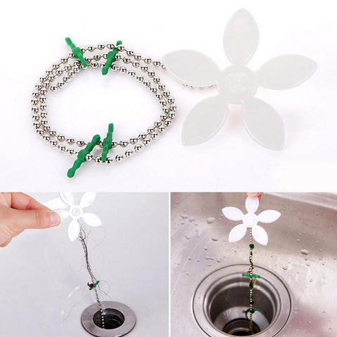 4-Pack Flower Chain Drain Hair Catcher