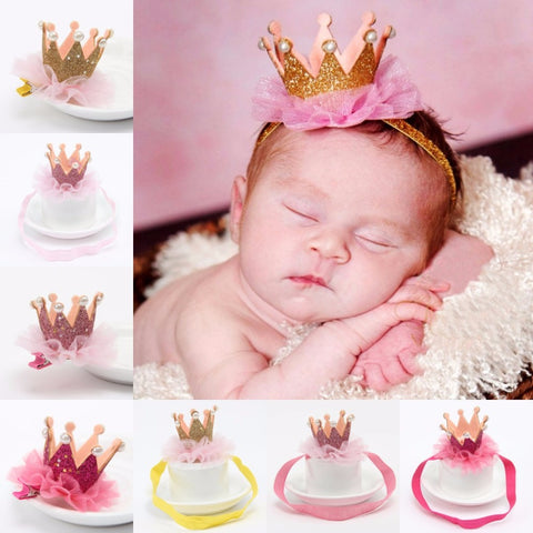 Shiny Princess Crown Headband for Babies