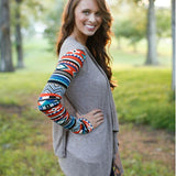 Solid Cardigans with Fun Sleeves (Reg. and Plus Sizes)