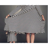 Mommy and Me Striped Dresses (Free size/2T-5T) - PB and Apple Jelly