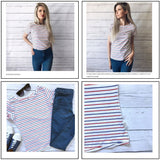 Casual Striped Short-Sleeved Shirts (Sizes 4-24) - PB and Apple Jelly
