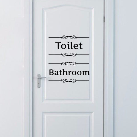 Bathroom/Toilet Door Stickers - PB and Apple Jelly