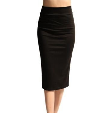 High-Waist Black Pencil Skirt (US Sizes 0-22) - PB and Apple Jelly